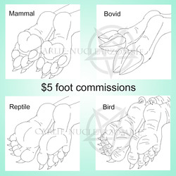 $5 Feet Icon Commissions