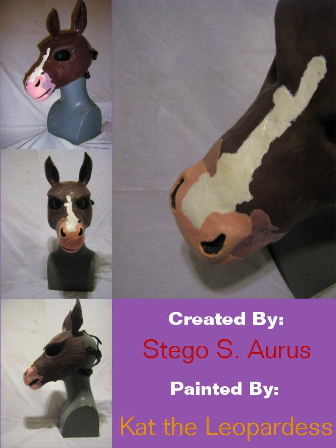 Painted Gas Mask: Brownie