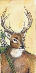 Warrior Deer Bookmark - 2011
