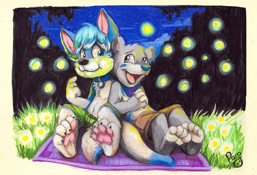 Eating fireflies