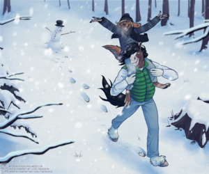 Prancing through the Snow