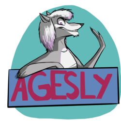 Agesly Wolf Badge