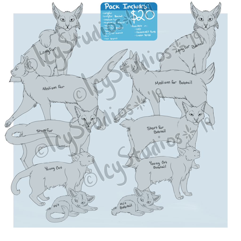 [P2U] Cat Lineart Pack