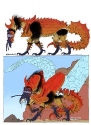 Bug Dragon Sketchbook Inks