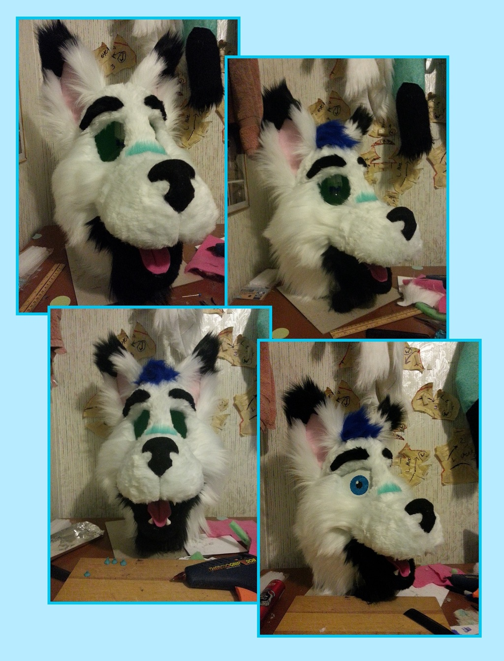 Premade Fursuit WIP - Completed Head!