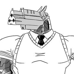 Pacifist Gun Head