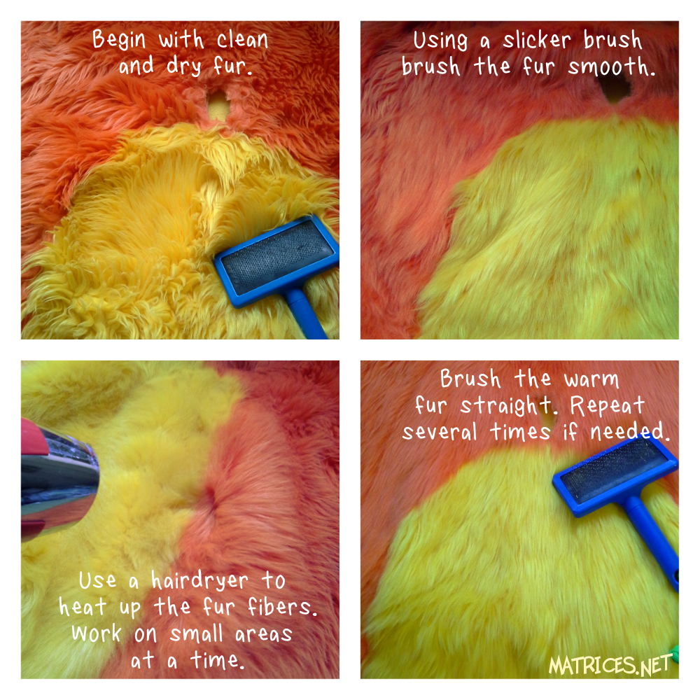How to: How to straighten faux fur
