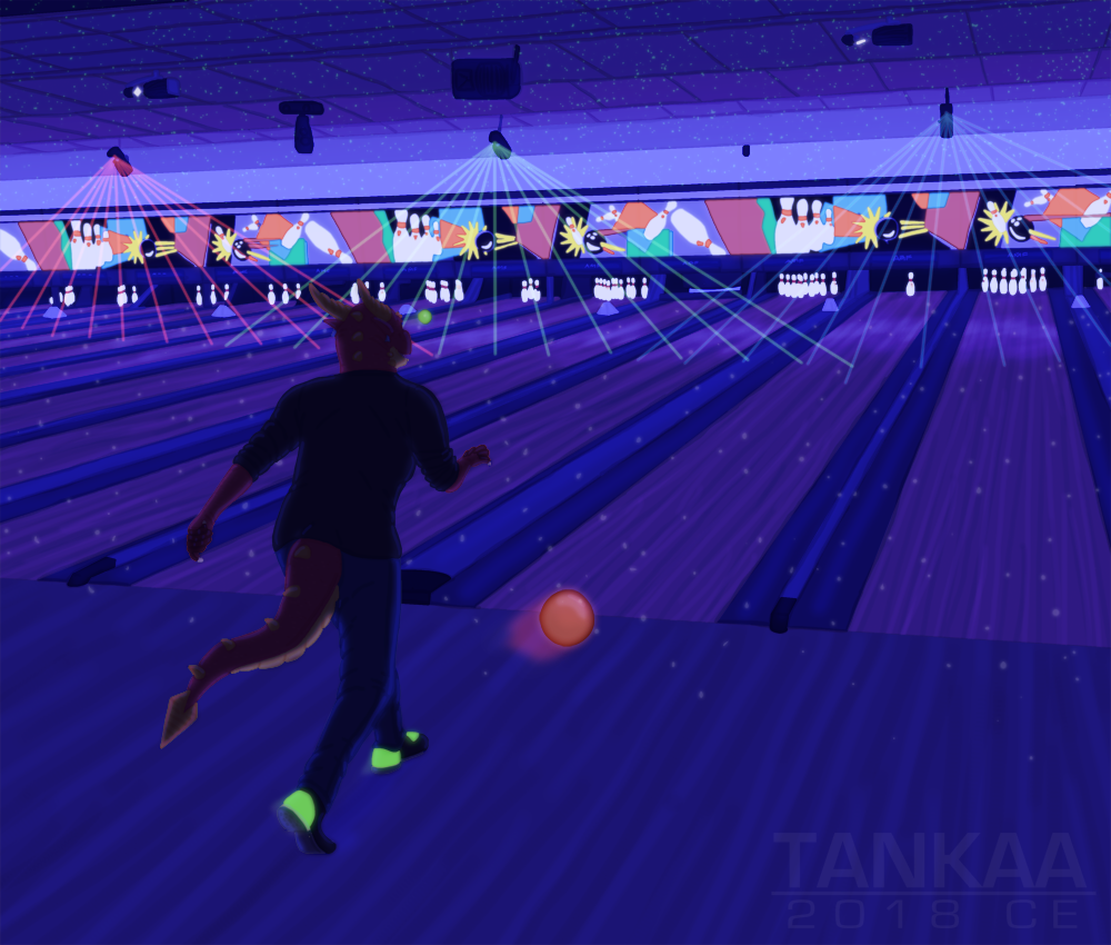 Most recent image: Alex - Cosmic Bowling