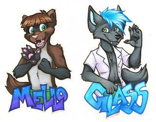 Mello & Glass Badges