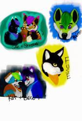 character head shots
