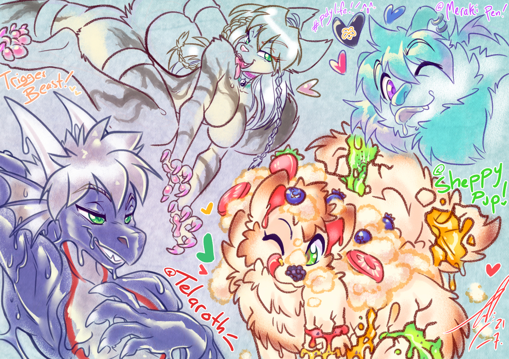 COM: All the Fruits n Furry Flavours!