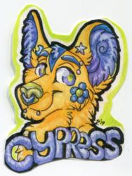 Cypress - Scrap sticker