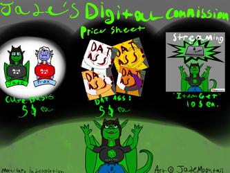 Digital Commission Price Sheet -MK1