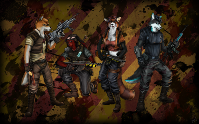 Borderlands, bad ass furry style!