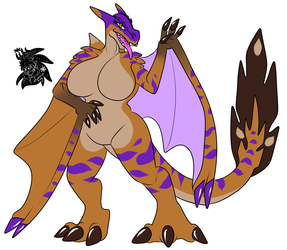 Female Tigerex +Flatcolored Commission+