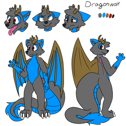 Dragonwolf New reference sheet