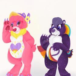 Shine Bright and Rainbow Heart Bear