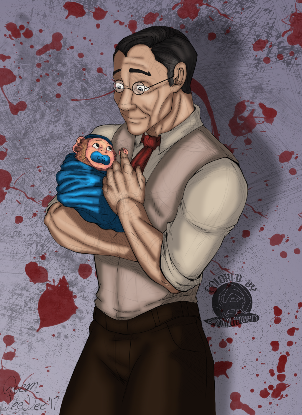 Medic and Baboon Baby
