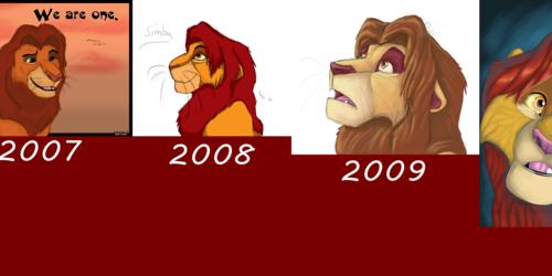 Simba Art Progression