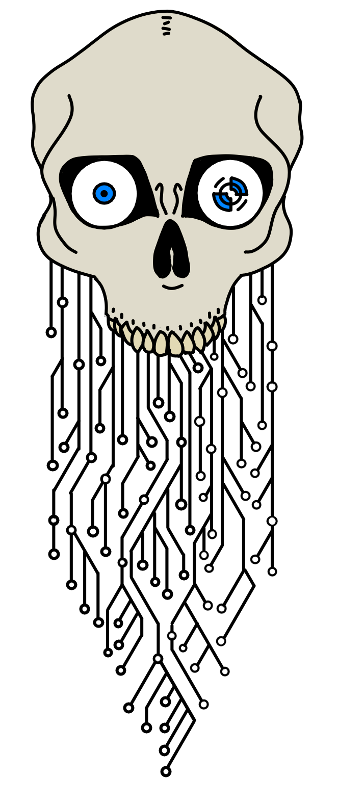 Most recent image: Skull and Circuit Tattoo Design
