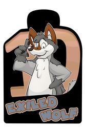 Confuzzled 2017 Badges - Exiled Wolf