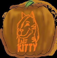 Jack-O-Lantern Badge - Kitty