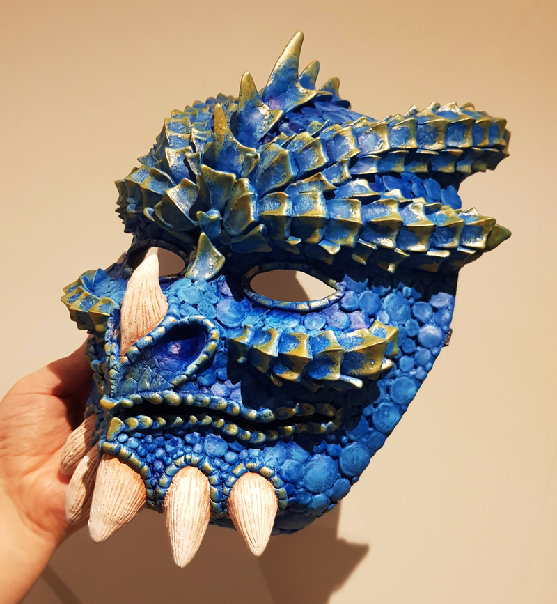 Most recent image: Blue dragonkin mask