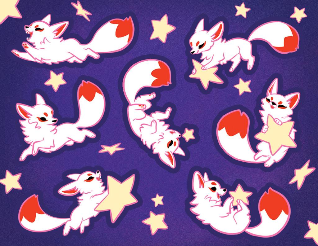 Startail Fox Stickers