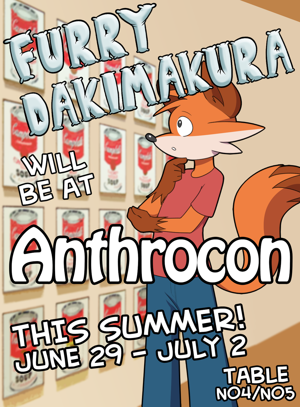 Most recent image: Furry Dakimakura will be at Anthrocon!