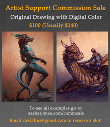 Artist Support Commission Sale