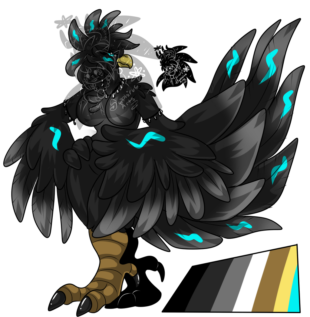 Female Black Chocobo +Design+ (SOLD)