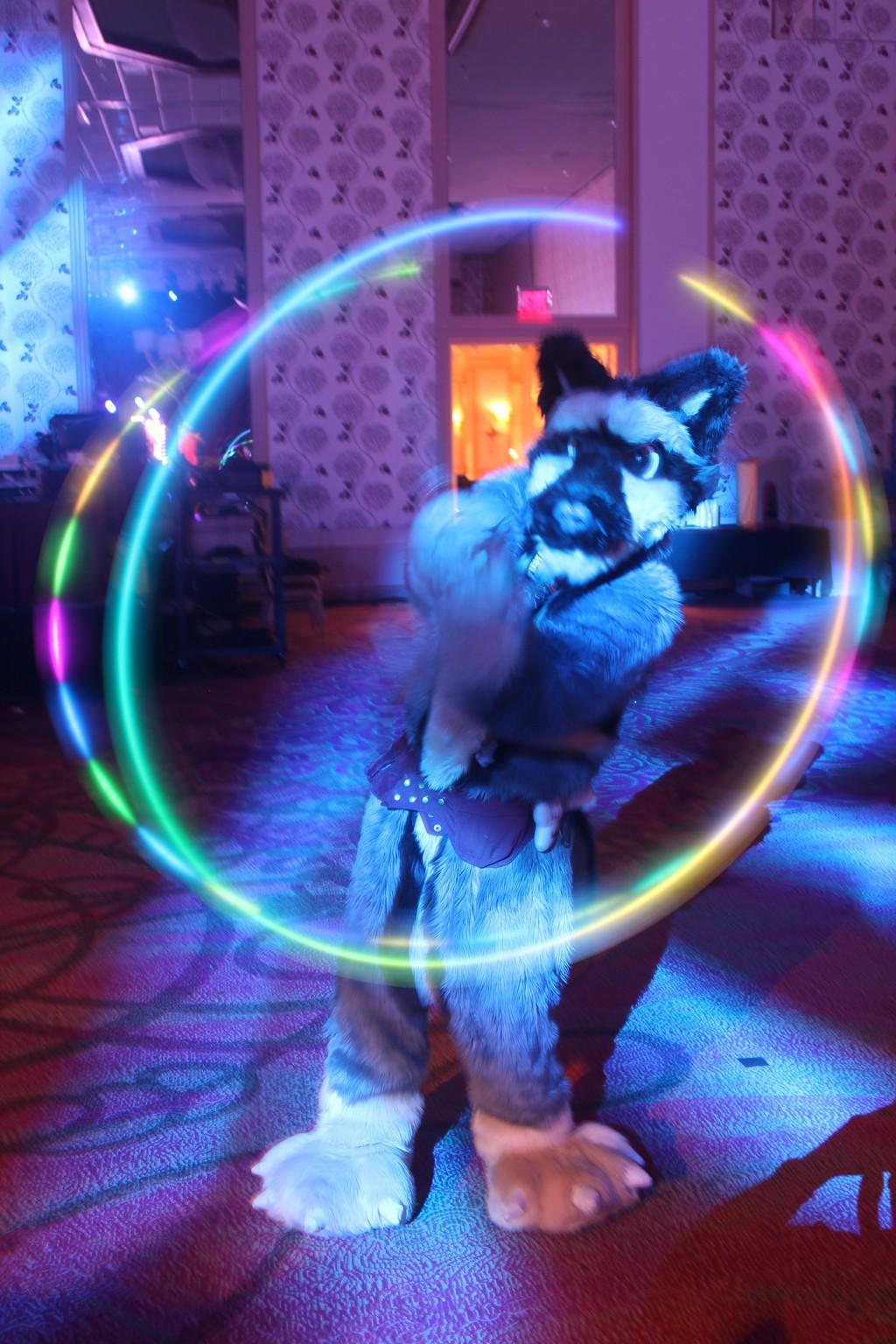 Texas Furry Fiesta 2016 - Twirling poi lights