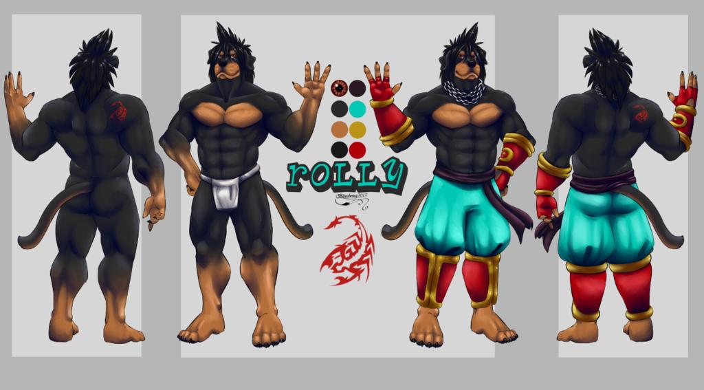 Rolly the super saiyan rottweiler