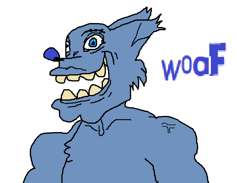 Most recent image: when you haven't been active in a while and feel bad about it but you're too lazy to draw something good so you draw a demonic furry instead