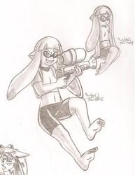 Splatoon Inkling drawings