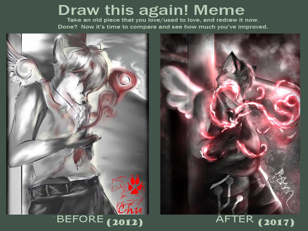 Most recent image: Draw it again comparative meme