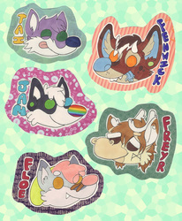 Cutehead twitter badge commisions!