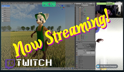 Character Creation Stream! (Blender/Twitch)