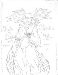 Felin the Delphox (Cancir s Gift) - Sketch