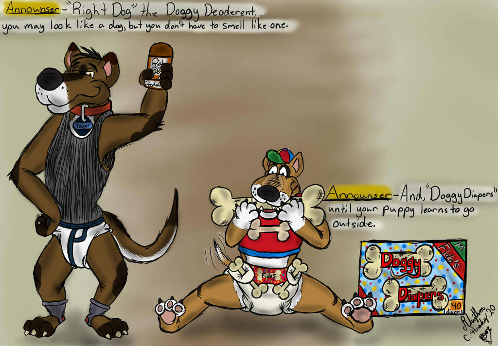 Most recent image: Right Dog Deoderent & Doggy Diapers ads