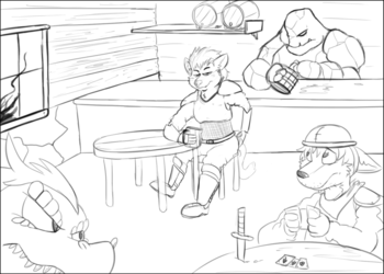 Kain in a classy tavern