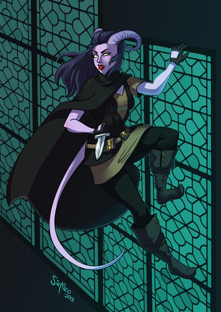 [commission] Tiefling Rogue