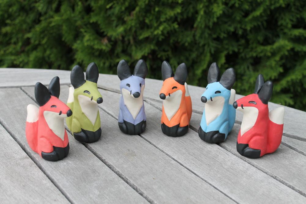 Lucky Fox Statues