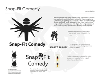 Snap-Fit Comedy Concept Board
