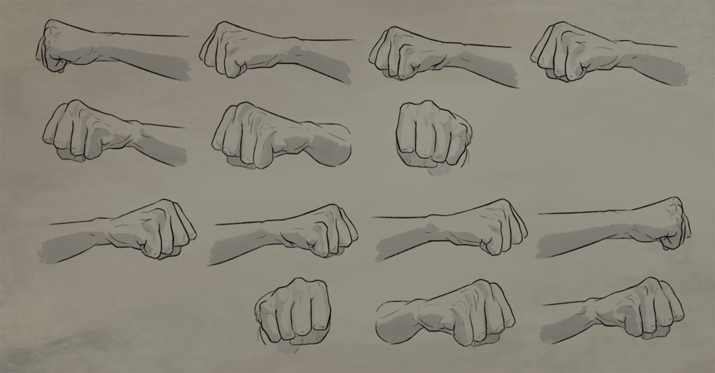 Fist Rotation Reference Sheet