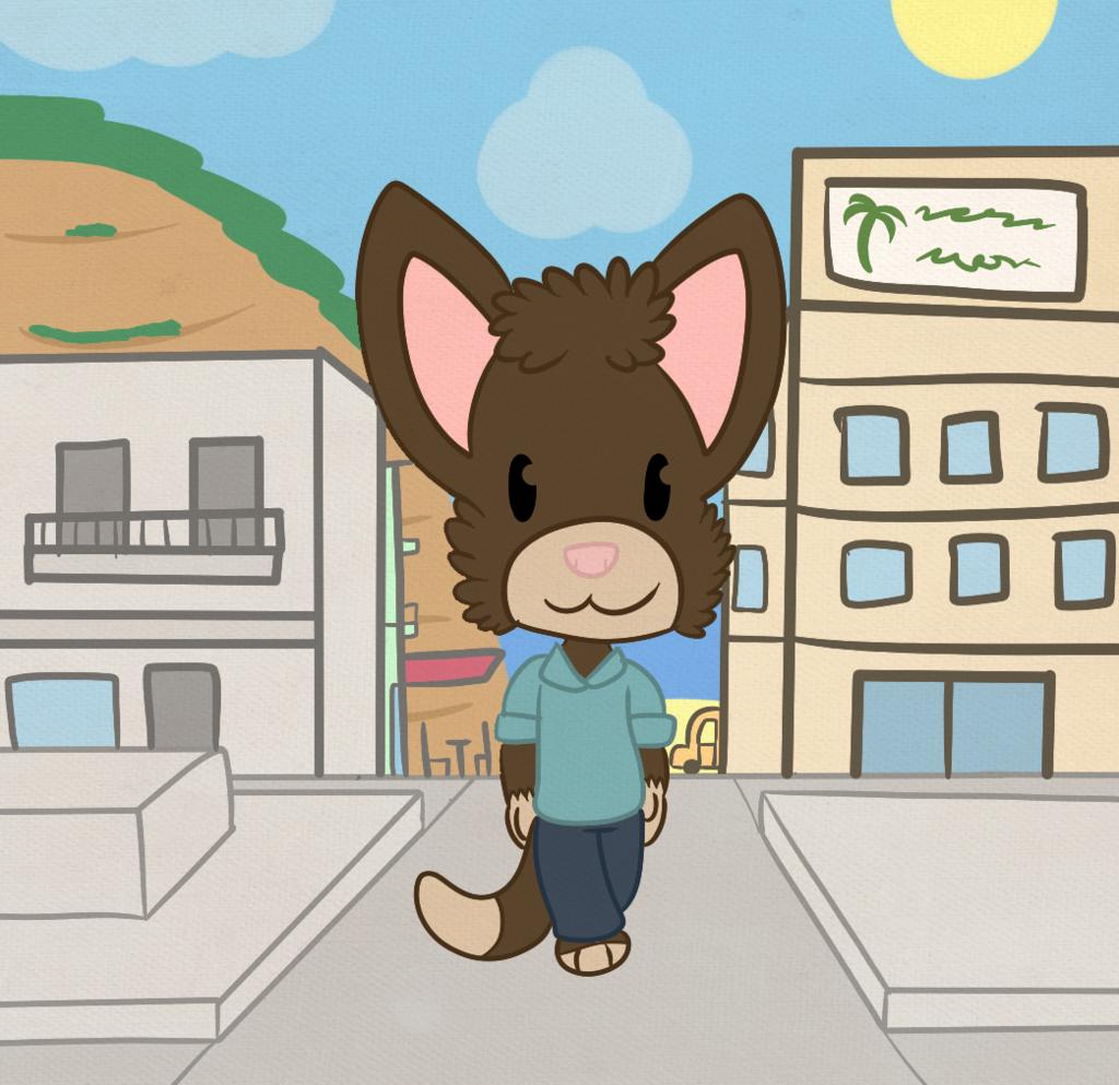 A BillCat takes a stroll.