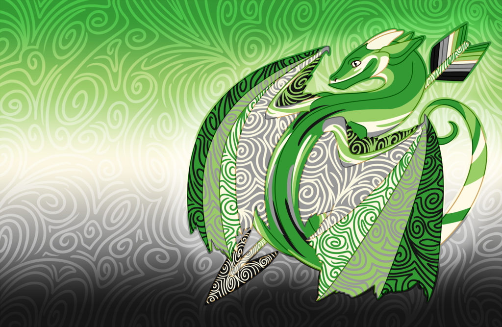 Chibi Aromantic Pride Dragon