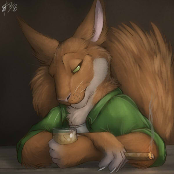 Kaerou Squirrely Bust Commission