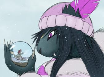 Smilodon Snowglobe