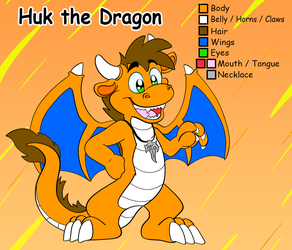 Huk the dragon reference sheet